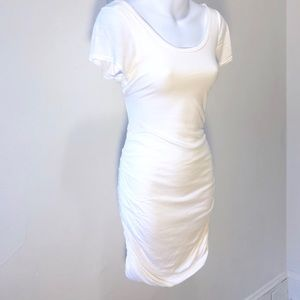 Splendid White Jersey Dress Resorts Wear